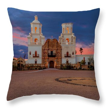 The White Dove Of The Desert Throw Pillow