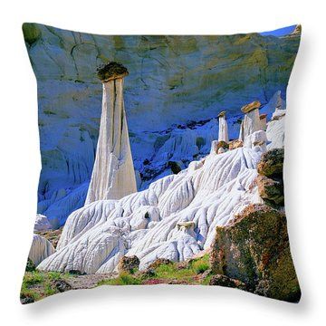 The White Hoodoos Throw Pillow