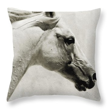 The White Horse IIi - Art Print Throw Pillow