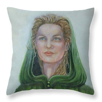 The White Rose Queen Throw Pillow