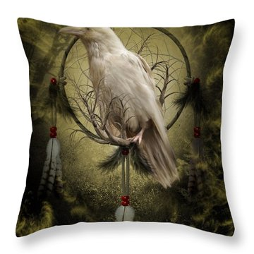 The White Raven Throw Pillow