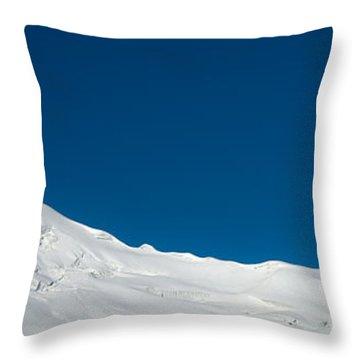 The White Summit Throw Pillow by Konstantin Dikovsky