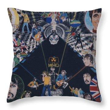 The Who - Quadrophenia Throw Pillow by Sean Connolly