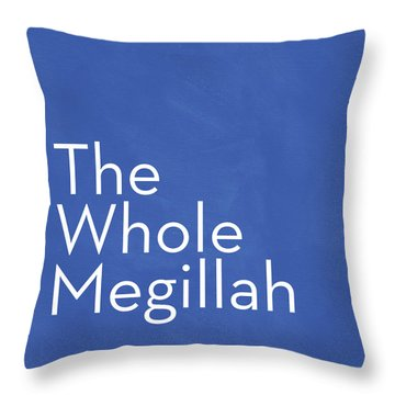The Whole Megillah- Art By Linda Woods Throw Pillow by Linda Woods