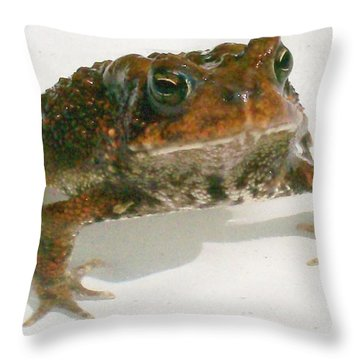 The Whole Toad Throw Pillow