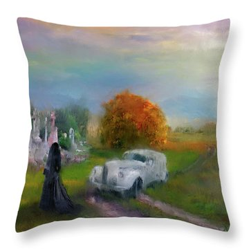 The Widow Throw Pillow by Michael Cleere