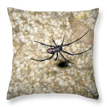 The Widow Throw Pillow