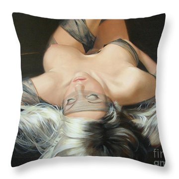 The Widow Throw Pillow by Sergey Ignatenko