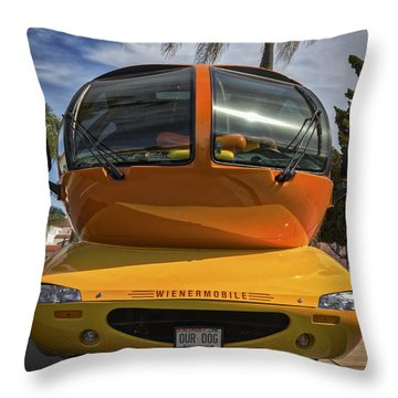 The Wienermobile Throw Pillow