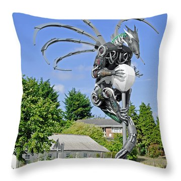 The Wight Dragon Throw Pillow by Rod Johnson