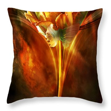 Throw Pillow featuring the digital art The Wild And Beautiful by Johnny Hildingsson