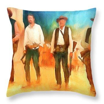 The Wild Bunch Throw Pillow