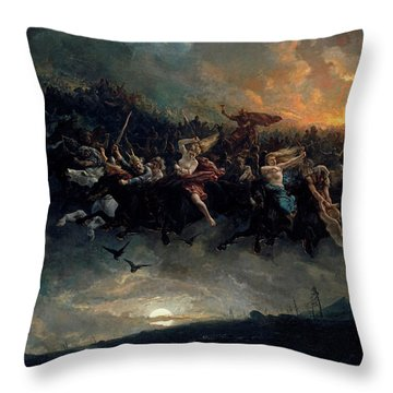 The Wild Hunt Of Odin Throw Pillow