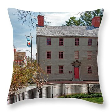 The William Pitt Tavern Throw Pillow