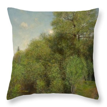 Throw Pillow featuring the painting The Willow Patch by Wayne Daniels