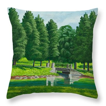 The Willow Path Throw Pillow by Charlotte Blanchard