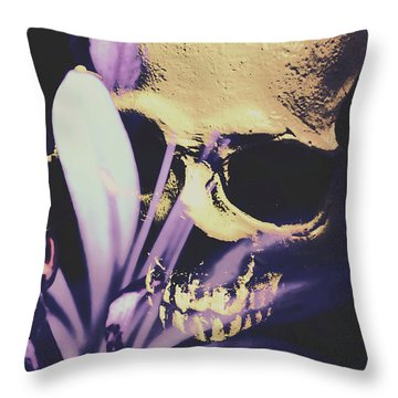 The Wilted Weather Underground Throw Pillow