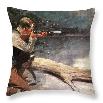 The Winchester Throw Pillow by Frederic Remington