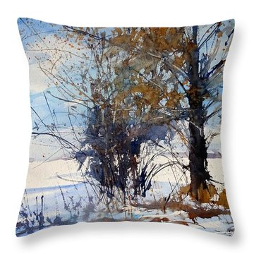 The Wind Break On 108th Throw Pillow