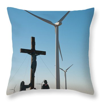 Throw Pillow featuring the photograph The Wind by Carl Young