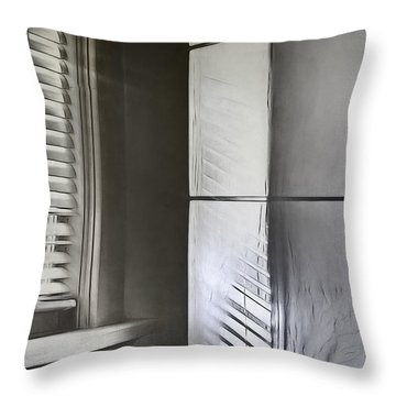 The Window And The Lamp Throw Pillow