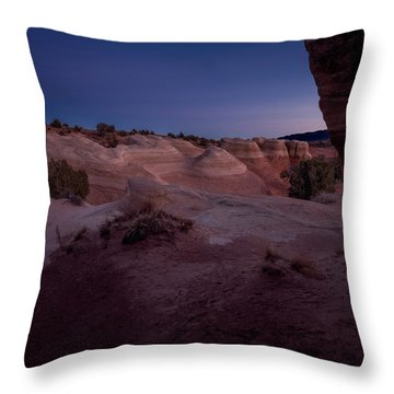 The Window In Desert Throw Pillow