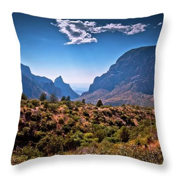 The Window In The Chisos Mountains Throw Pillow