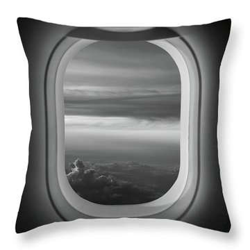 The Window Seat Bw Throw Pillow
