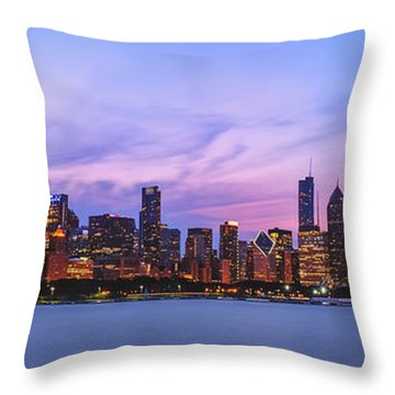 The Windy City Throw Pillow by Scott Norris
