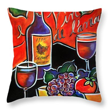 The Wine Of Love Throw Pillow