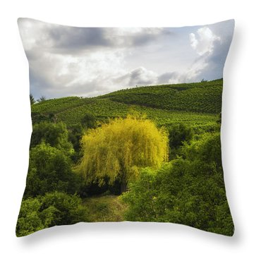 the wineyards of Loc Throw Pillow
