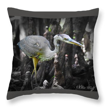 The Winged Stalker Throw Pillow