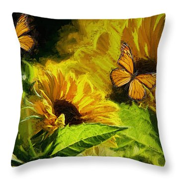 The Wings Of Transformation Throw Pillow by Tina  LeCour