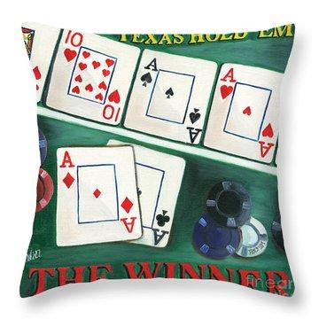 The Winner Throw Pillow