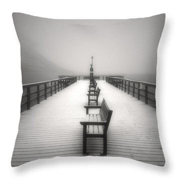 The Winter Pier Throw Pillow by Tara Turner