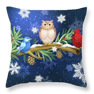 The Winter Watch Throw Pillow