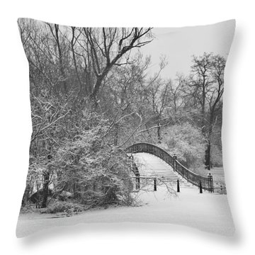The Winter White Wedding Bridge Throw Pillow