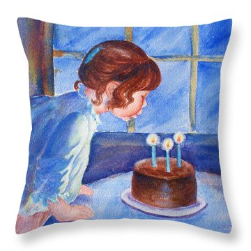 The Wish Throw Pillow by Marilyn Jacobson
