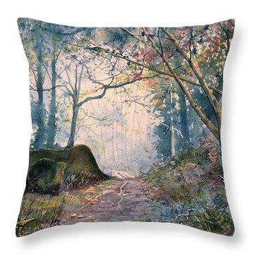 The Wishing Stone Throw Pillow