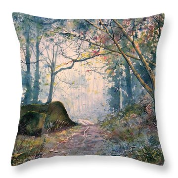 The Wishing Stone Throw Pillow