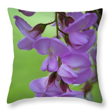 Throw Pillow featuring the photograph The Wisteria by Mark Dodd