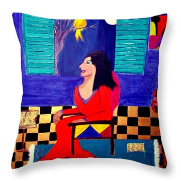The Witch's Duet Throw Pillow