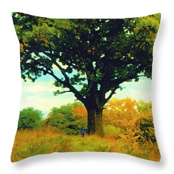 The Witness Tree Throw Pillow