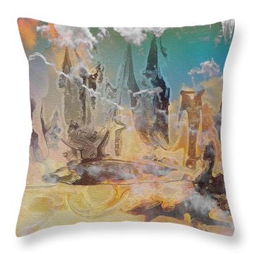 The Wizard By Sherriofpalmsprings Throw Pillow