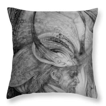 The Wizard Of Earth-sea Throw Pillow