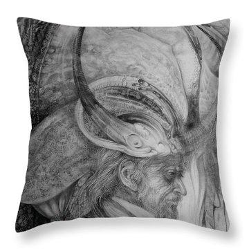 The Wizard Of Earth-sea Throw Pillow