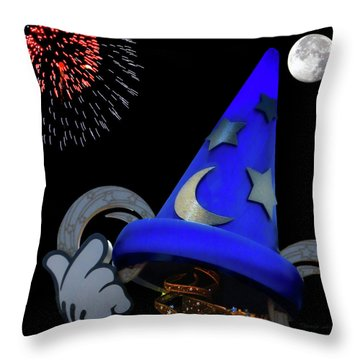 The Wizard Walt Disney World Mp Throw Pillow