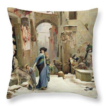 The Wolf Of Gubbio Throw Pillow
