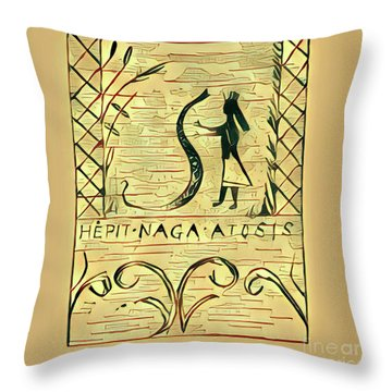The Woman And The Serpent Throw Pillow