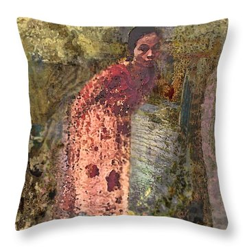 The Woman At His Tomb Throw Pillow
